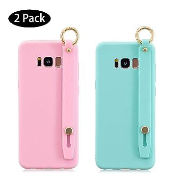 Leton [2 Pack] Funda Samsung Galaxy S8 Rosa Verde, Carcasa ...
