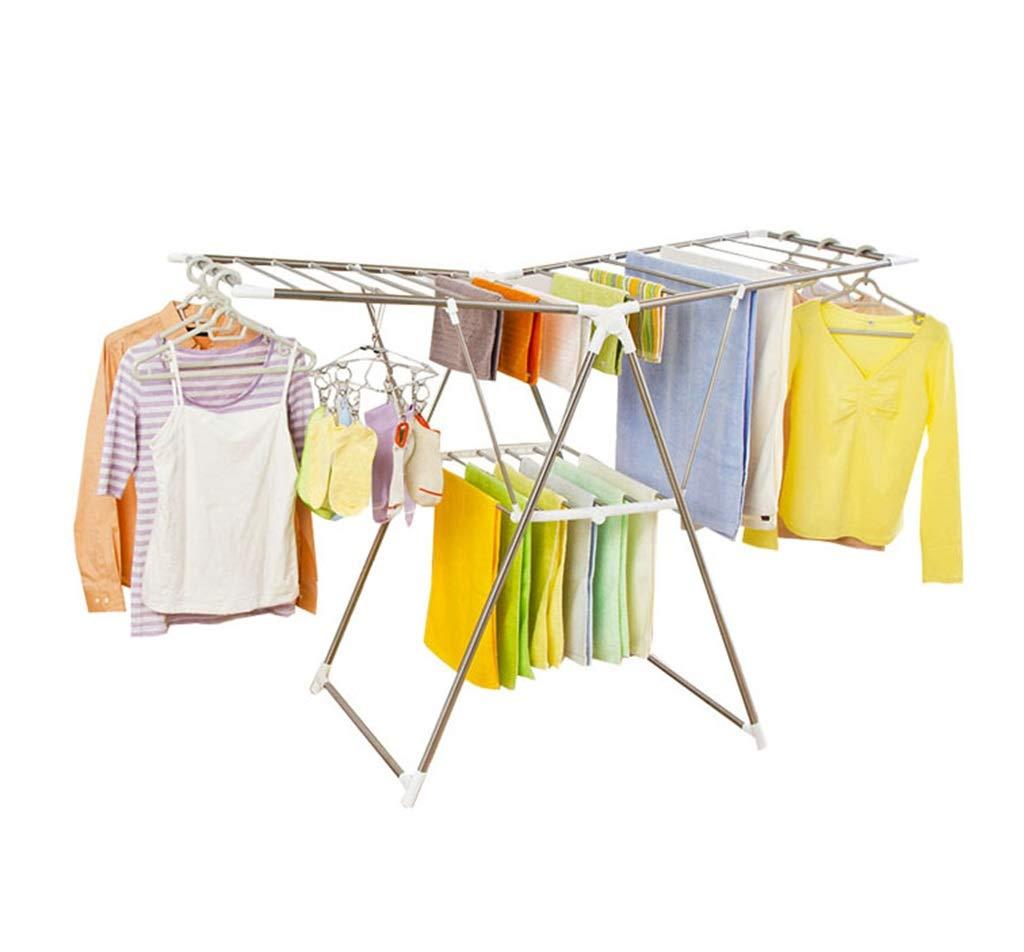 床置きランドリー乾燥ラック折りたたみ屋外バルコニー調節可能な洋服のレール B07KX1XTN5
