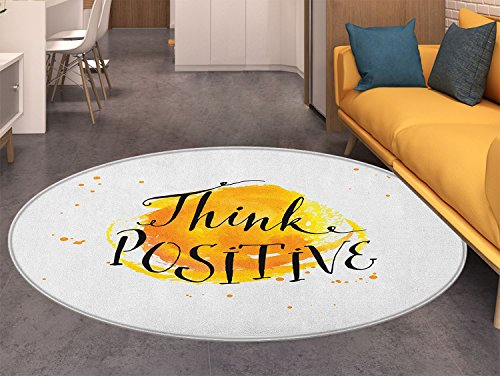 Motivational Round Area Rug Carpet Color Splash with for sale  Delivered anywhere in USA