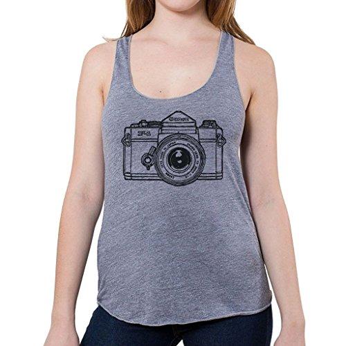GarageProject101 Classic Canon F1 Camera Women's Tank Top (Junior Size) M Gray