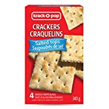 Krack O Pop Pemium Snacks - Crisp Saltines Crackers Salted Tops 340G (4 Individually Wrapped 85g Packs)