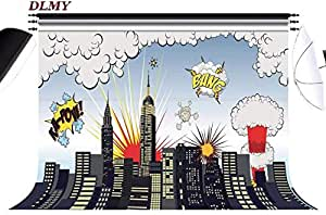 DLMY 7x5ft Superhero Party Supplies Photography Backdrops,Photo Background for Studio Props Decorations