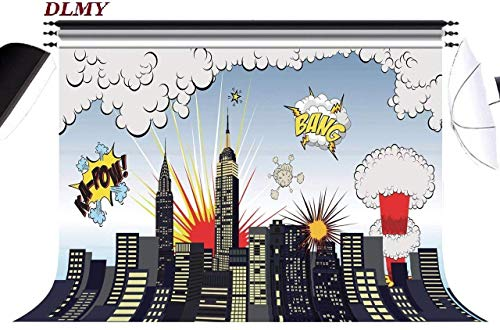 DLMY 7x5ft Superhero Party Supplies Photography Backdrops,Photo Background for Studio Props Decorations -