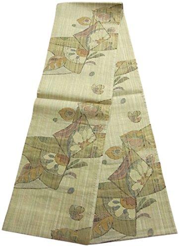 香り香り障害リサイクル 袋帯 紬 夏もの 花模様 正絹