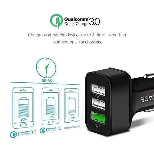 Configear Car Charger  Port  A Full Speed Rapid Charging