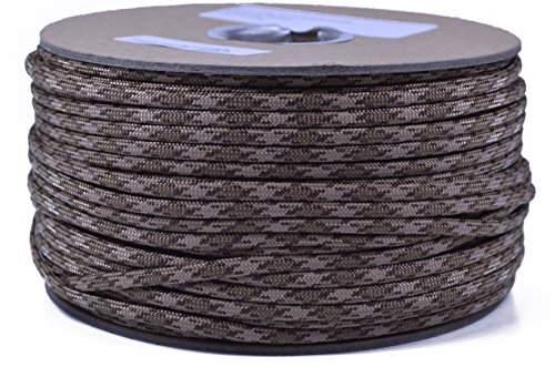 Bored Paracord - 1', 10', 25', 50', 100' Hanks & 250', 1000' Spools of Parachute 550 Cord Type III 7 Strand Paracord Well Over 300 Colors - Brown Snake - 250 Foot Spool ()