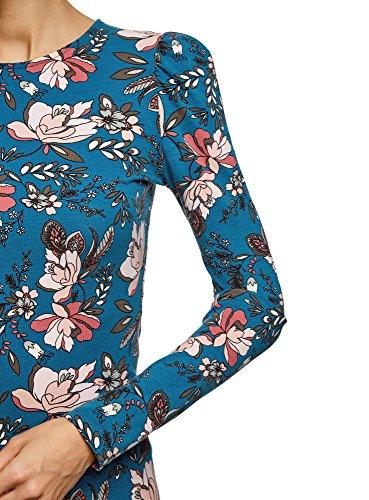 Blu in Maglia oodji Senza 6c54f a Etichetta Ultra Donna Maniche Lunghe Cotone gwFvax