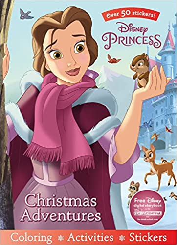Disney Princess Christmas Adventures Sticker Scenes Coloring Book Parragon Books Ltd 9781474854818 Amazon