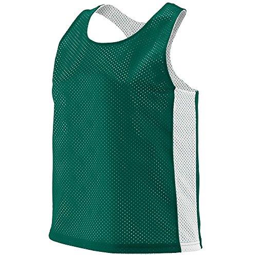 Cotton Reversible Jersey - Augusta Sportswear Women's Reversible Tricot MESH Lacrosse Tank S/M Dark Green/White