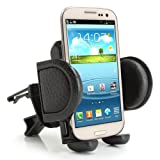 USA Gear Universal Air Vent Phone Mount Holder with Adjustable Display - Works With Samsung Galaxy S6 , Motorola Droid Turbo , Apple iPhone 6 & More!
