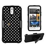 FXclusive For HTC One E8 Image Art Design Graphic Hybrid Heavy Duty Cover Protector Case with Belt Clip Holster Kickstand - White Dots Design