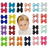 40pcs Baby Girls Hair Bows Clips-Fully Lined Grosgrain Ribbon Barrettes for Infant Toddlers Kids Teens by Aurya