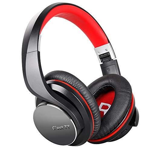 GXOK Over Ear Headphones,ShareMe Wireless BT 4.1 Stereo with Built-in Mic, Foldable Fashion Stereo Music Couples Headset [Ship from USA Directly]