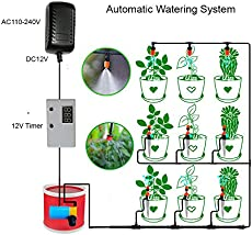 Indoor Plant Automatic Watering System With Spray Drip Adjustable Dripper  Kit And Timer Irrigation For Home Indoor Garden Patio Lawn Flower