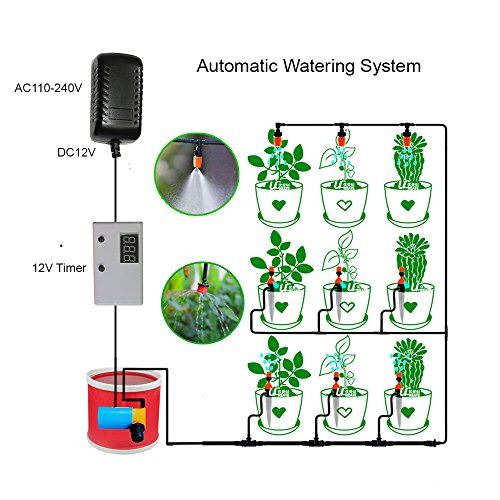 Indoor Plant Automatic Watering System Timer Irrigation w...