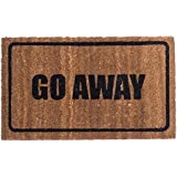 Vinyl Back - GO AWAY - Coir Doormat