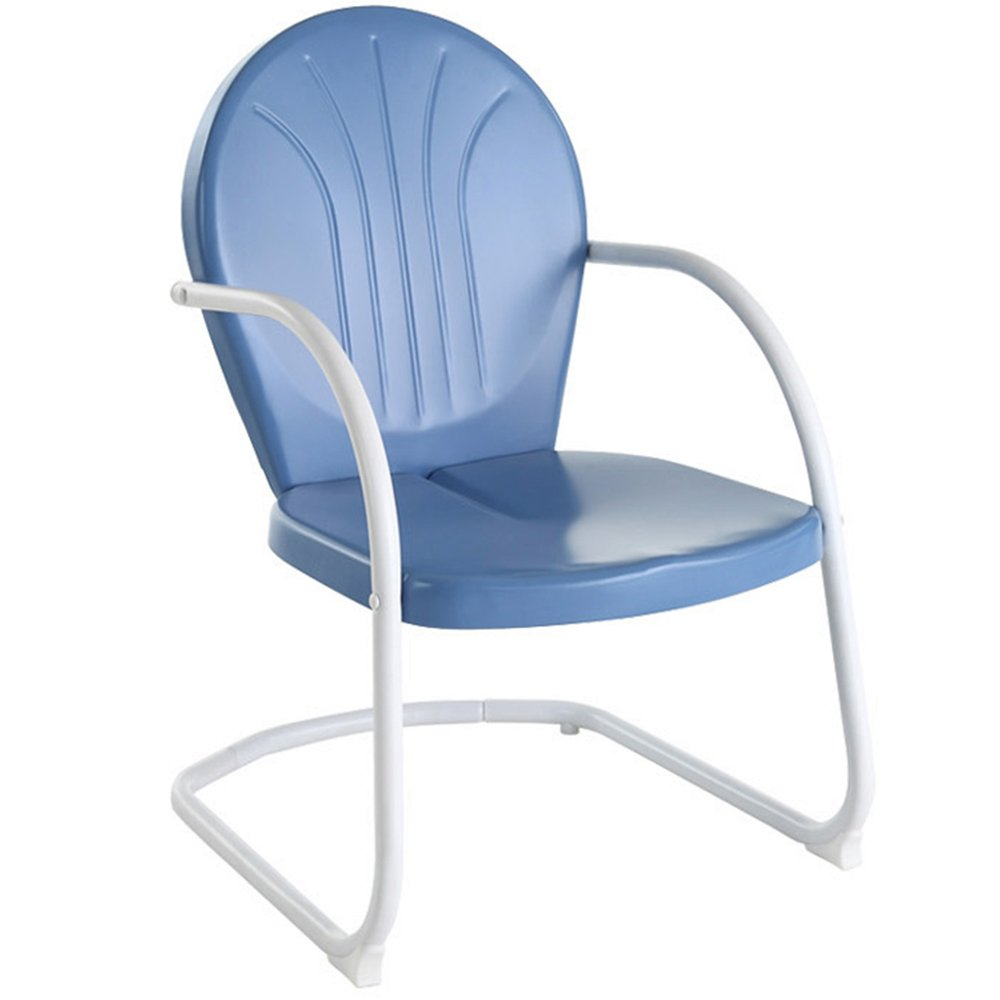 Vintage metal patio chairs - Amazon Com Crosley Furniture Griffith Metal Outdoor Chair Sky Blue Lawn Chairs Patio Lawn Garden