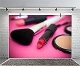 Leyiyi 6x4ft Photography Backdrop Make-up Vlogger Products Backdrop Exquisite Lady Henna Party Lip Stick Foundation Brush Bridal Shower Adult Ceremony Decor Photo Portrait Vinyl Video Studio Prop