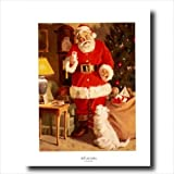 Old St Nick Santa Clause Christmas Wall Picture Art Print #4