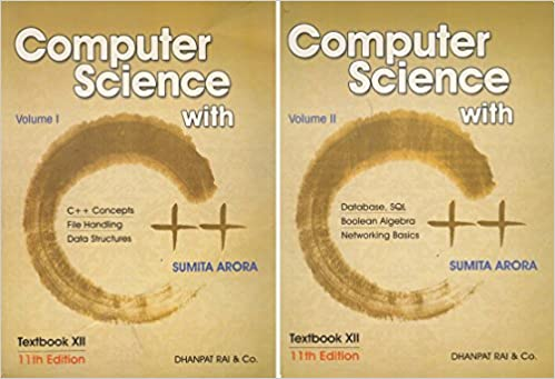 computer science with c set of 2 volume by sumita arora 2018 19