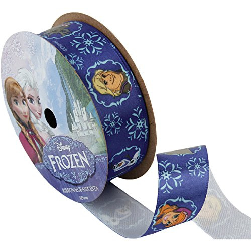 Offray 944873 Frozen Craft Ribbon, 7/8-Inch by 9-Feet, Royal All Characters]()