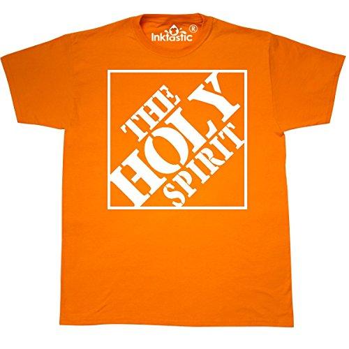 inktastic - The Holy Spirit Christian T-Shirt Medium Safety Orange da6c