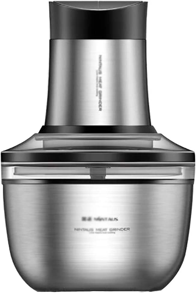 2L Electric Food Chopper,200W Mini Food Processor,Fruit and Nuts with2 Speed Choice Stainless Steel Bowl Grinder for Meat, Vegetables