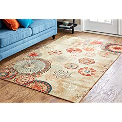 Mohawk Home Alexa Medallion Indoor/Outdoor Printed Area Rug, 5'x8', Multicolor