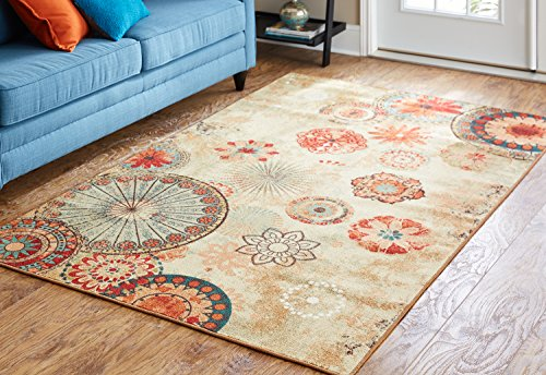 Mohawk Home Alexa Medallion Indoor/ Outdoor Printed Area Rug, 5'x8', Multicolor (Outdoor Indoor Rug)