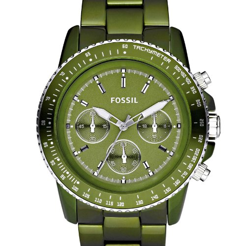 Amazon.com: Fossil Stella Chronograph Green Aluminium Ladies Watch CH2711: Fossil: Watches