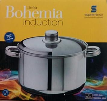 Supreminox Bohemia gama olla, inducción, 20 cm, color plateado: Amazon.es: Hogar