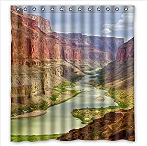 Beautiful Grand Canyon Scenery Design Arizona Custom 100% Polyester Waterproof Shower Curtain 66 x 72