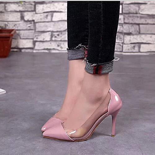 Tacco Elegante Boemo Tacchi Alla Estivi Lianmengmvp Caviglia Alti Scarpe Con Casual Sandali Cerniera E Alto Da Rosa Donna FrBErq