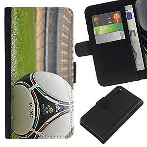 Stuss Case / Funda Carcasa PU de Cuero - Balón de fútbol - Sony Xperia Z3 D6603