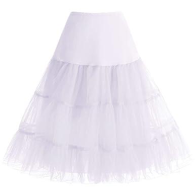 Bbonlinedress Jupon Femme Style année 50 Jupon Rockabilly 4 Tailles à  Choisir Blanc S 6687980ac4f8