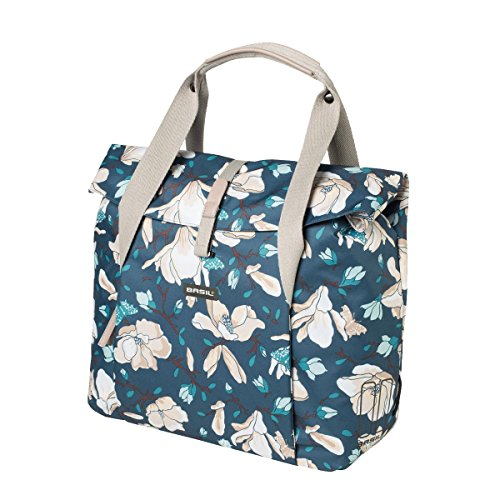 (Basil Rear Cycle Bag - Magnolia Shopper: Teal Blue 18 Litre)