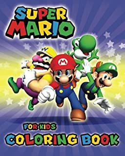 Super Mario Coloring Book For Kids Activity Boys Girls Ages 2