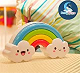2016 Newest LED Rainbow Colorful Night Light Voice&Light Control Decorative Lights Baby Bedside Lamp Children Present/Toy Batteries Powered For Sale