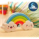 2016 Newest LED Rainbow Colorful Night Light Voice&Light Control Decorative Lights Baby Bedside Lamp Children Present/Toy Batteries Powered
