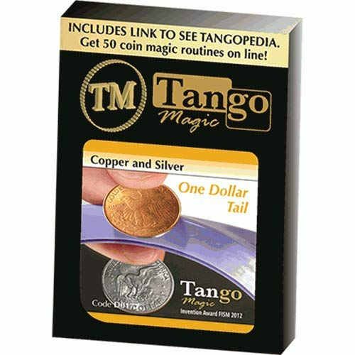 SOLOMAGIA Copper and Silver Dollar (Tails) (D0177) by Tango Magic  Magic with coins  Magic Tricks