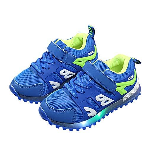 Mesh Outdoor Flash Niños Casaul Zapato Deportivo Led ❤️ Niño Shoes Niñas Absolute Luminoso Niños Luz Para Carta Azul Sport 4xO6qwg