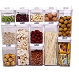 Airtight Food Storage Container 12 Sets with Easy Open & Lock, Air-Tight Dry Fresh Storage Set BPA-Free Clear Durable…