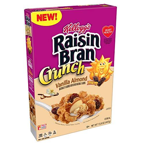 Kellogg's Raisin Bran, Breakfast Cereal, Vanilla Almond, 15.8oz