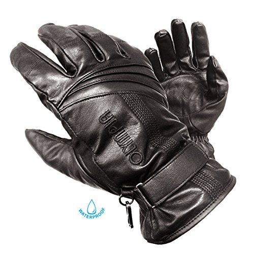 Olympia 180 Monsoon Classic Motorcycle Gloves (Black, Medium)
