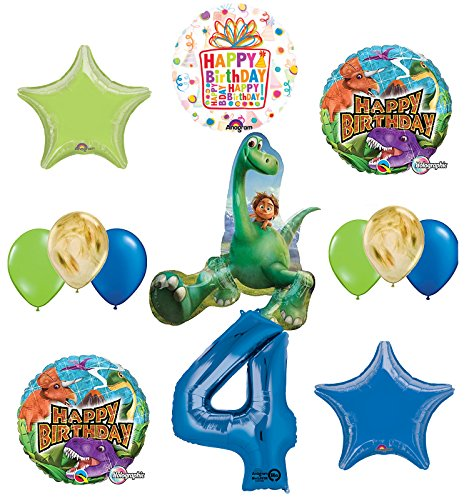 Arlo and Spot The Good Dinosaur 4th Birthday Party Supplies and Balloon (Party Good Store)