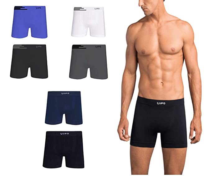 4251325eaf7c4a Kit 10 Cuecas Boxer Lupo Microfibra Box Sem Costura Adulto Masculino 436