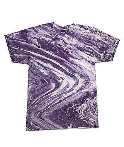 Tie Dye HM1111 Adult Marble Tie-Dyed Tee - Marble Purple,...
