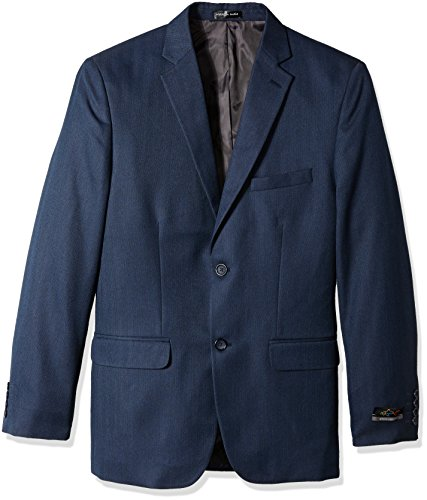 Greg Norman Men's Herringbone Sport Coat, Navy, 40 Long by Greg Norman