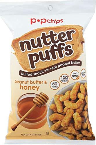 POPCHIPS: Nutter Puffs Peanut Butter & Honey, 4 oz -4PACK