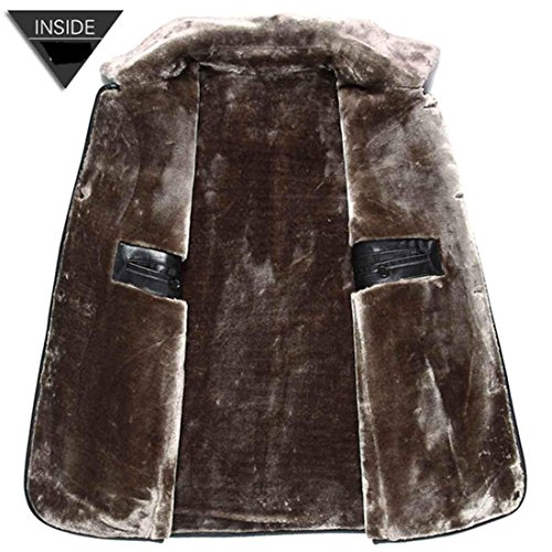 Abrigo de Chaqueta hombres casual invierno 185 hombres para de de de piel xxl los de Abrigo black piel moda qScOIfwS